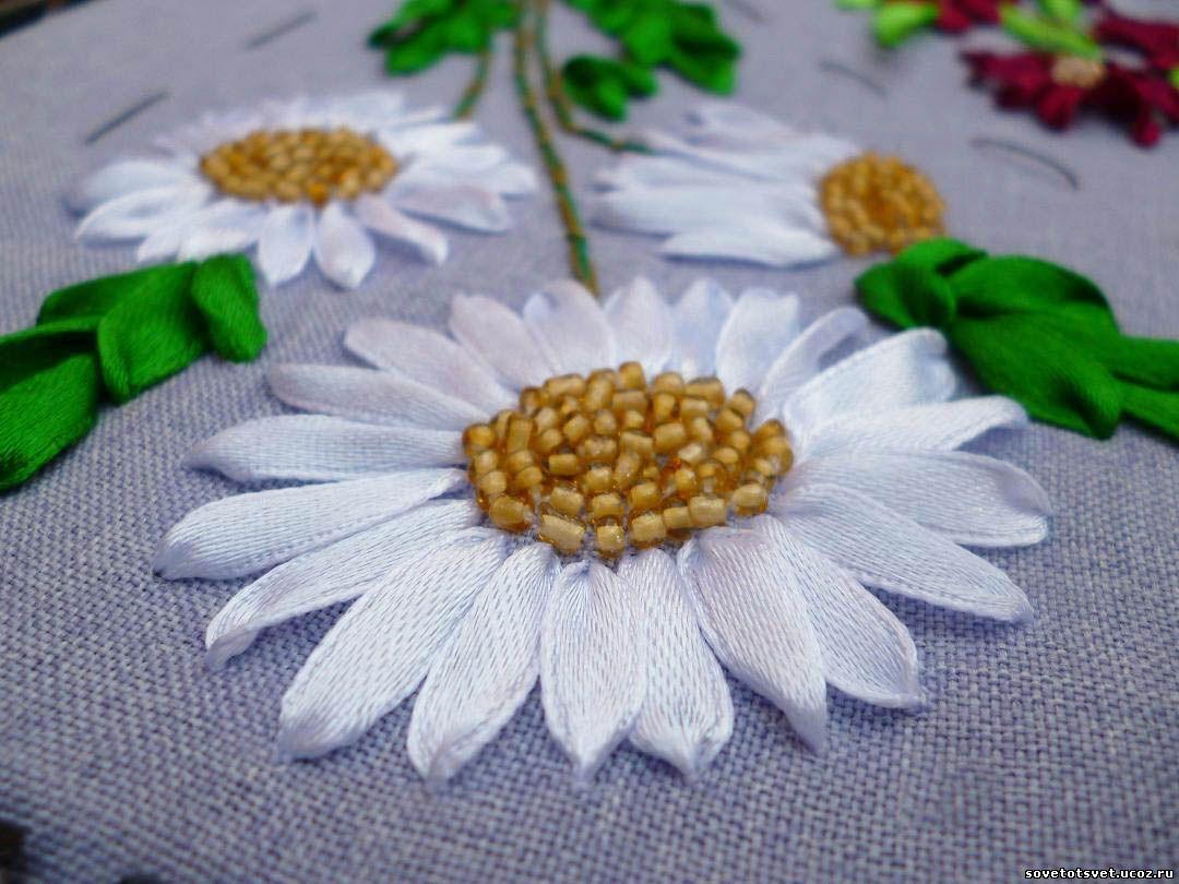Ленты для вышивки лентами