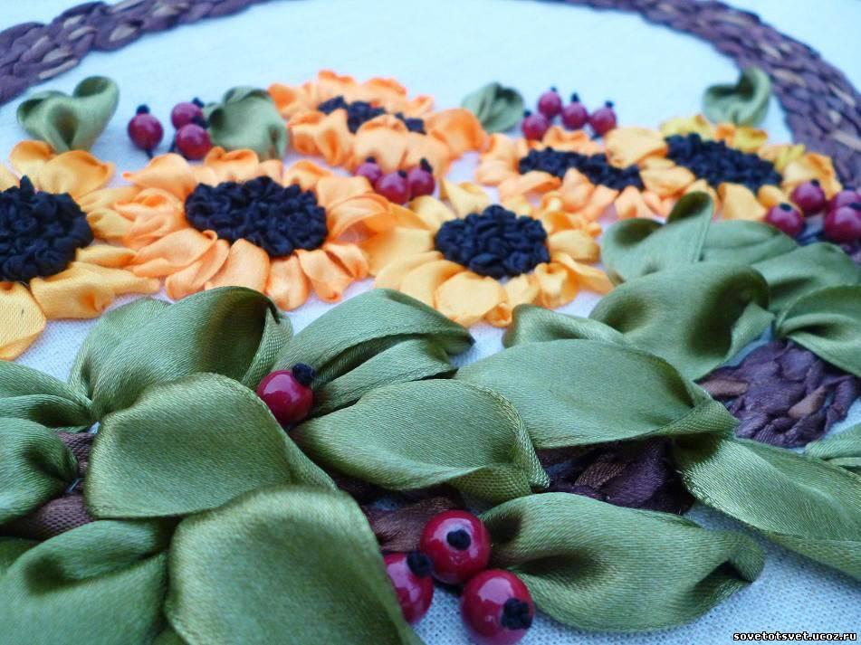 вышиваем ягодки бусинками