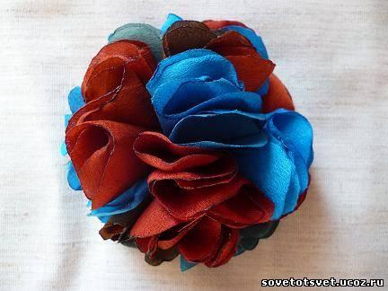 мастер-класс делаем цветок из ткани